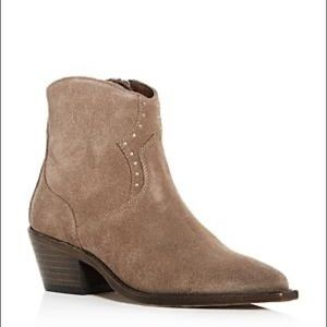 All Saints Melanie Suede Western Boots